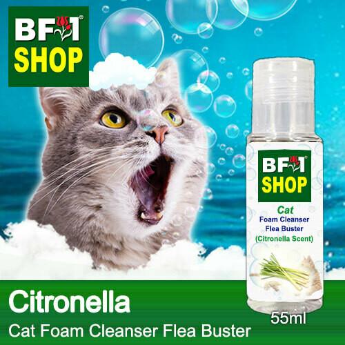 Cat Foam Cleanser Flea Buster (CFC-Cat) - Citronella - 55ml ⭐⭐⭐⭐⭐