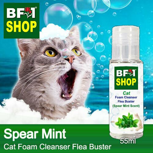 Cat Foam Cleanser Flea Buster (CFC-Cat) - mint - Spear Mint - 55ml ⭐⭐⭐⭐⭐