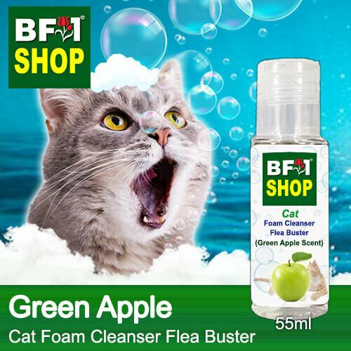 Cat Foam Cleanser Flea Buster (CFC-Cat) - Apple - Green Apple - 55ml ⭐⭐⭐⭐⭐