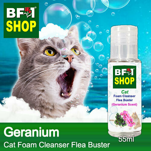 Cat Foam Cleanser Flea Buster (CFC-Cat) - Geranium - 55ml ⭐⭐⭐⭐⭐