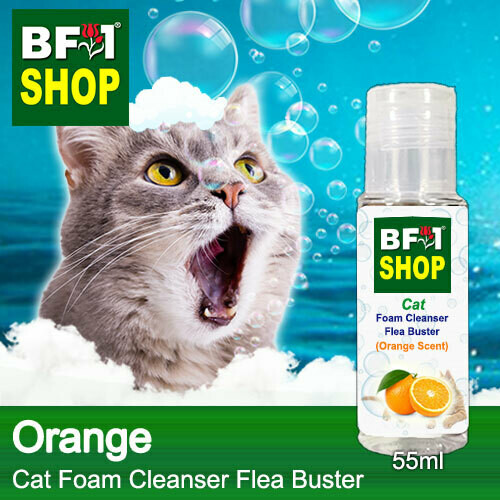 Cat Foam Cleanser Flea Buster (CFC-Cat) - Orange - 55ml ⭐⭐⭐⭐⭐