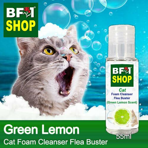 Cat Foam Cleanser Flea Buster (CFC-Cat) - Lemon - Green Lemon - 55ml ⭐⭐⭐⭐⭐