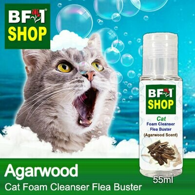 Cat Foam Cleanser Flea Buster (CFC-Cat) - Agarwood - 55ml ⭐⭐⭐⭐⭐