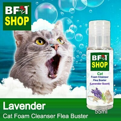Cat Foam Cleanser Flea Buster (CFC-Cat) - Lavender - 55ml ⭐⭐⭐⭐⭐