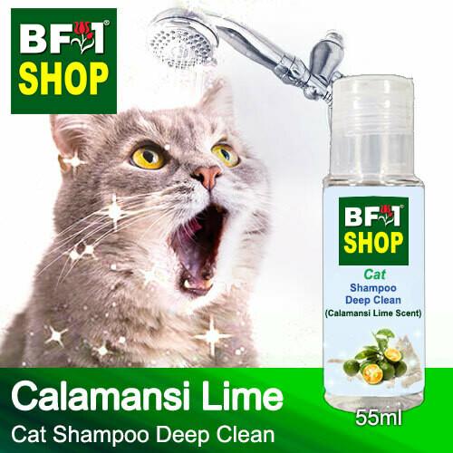 Cat Shampoo Deep Clean (CSDC-Cat) - lime - Calamansi Lime - 55ml ⭐⭐⭐⭐⭐