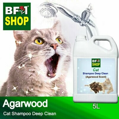 Cat Shampoo Deep Clean (CSDC-Cat) - Agarwood - 5L ⭐⭐⭐⭐⭐