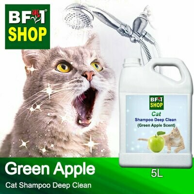 Cat Shampoo Deep Clean (CSDC-Cat) - Apple - Green Apple - 5L ⭐⭐⭐⭐⭐