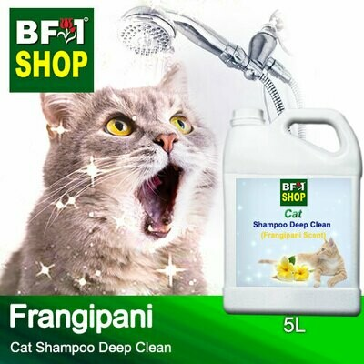 Cat Shampoo Deep Clean (CSDC-Cat) - Frangipani - 5L ⭐⭐⭐⭐⭐