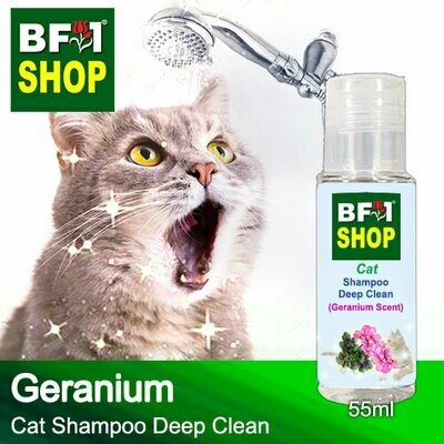 Cat Shampoo Deep Clean (CSDC-Cat) - Geranium - 55ml ⭐⭐⭐⭐⭐