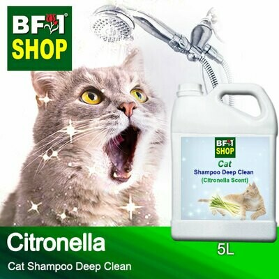 Cat Shampoo Deep Clean (CSDC-Cat) - Citronella - 5L ⭐⭐⭐⭐⭐