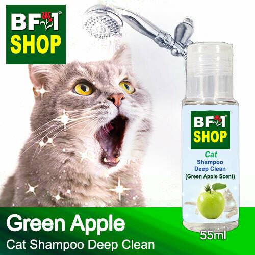 Cat Shampoo Deep Clean (CSDC-Cat) - Apple - Green Apple - 55ml ⭐⭐⭐⭐⭐