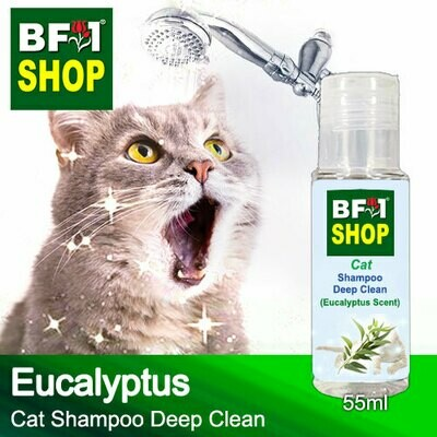 Cat Shampoo Deep Clean (CSDC-Cat) - Eucalyptus - 55ml ⭐⭐⭐⭐⭐