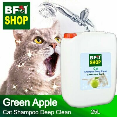 Cat Shampoo Deep Clean (CSDC-Cat) - Apple - Green Apple - 25L ⭐⭐⭐⭐⭐