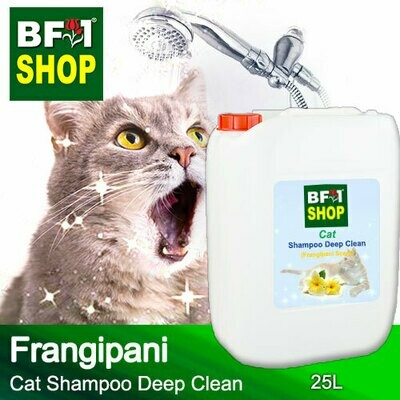 Cat Shampoo Deep Clean (CSDC-Cat) - Frangipani - 25L ⭐⭐⭐⭐⭐