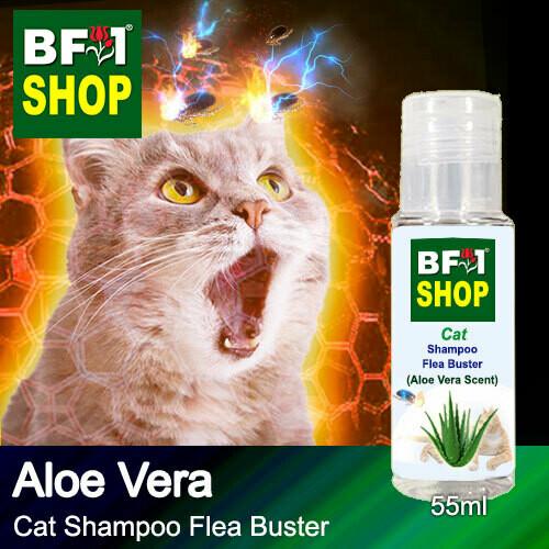 Cat Shampoo Flea Buster (CSO-Cat) - Aloe Vera - 55ml ⭐⭐⭐⭐⭐