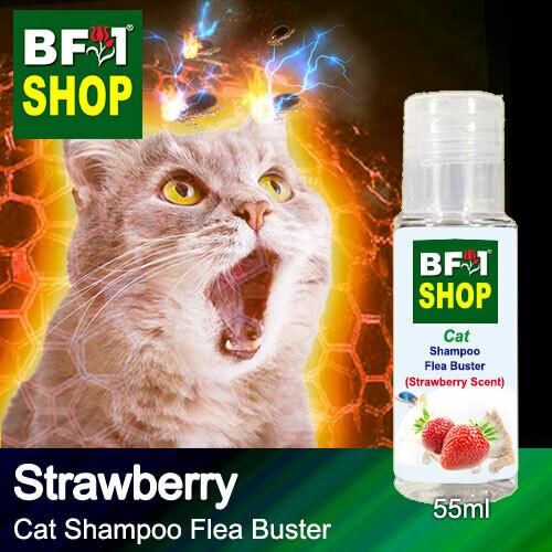 Cat Shampoo Flea Buster (CSO-Cat) - Strawberry - 55ml ⭐⭐⭐⭐⭐