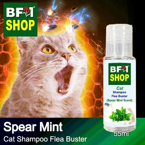 Cat Shampoo Flea Buster (CSO-Cat) - mint - Spear Mint - 55ml ⭐⭐⭐⭐⭐
