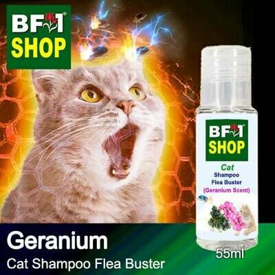 Cat Shampoo Flea Buster (CSO-Cat) - Geranium - 55ml ⭐⭐⭐⭐⭐