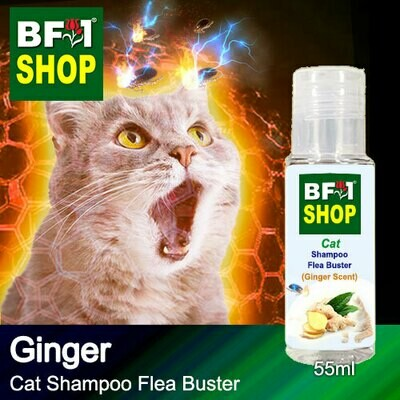 Cat Shampoo Flea Buster (CSO-Cat) - Ginger - 55ml ⭐⭐⭐⭐⭐