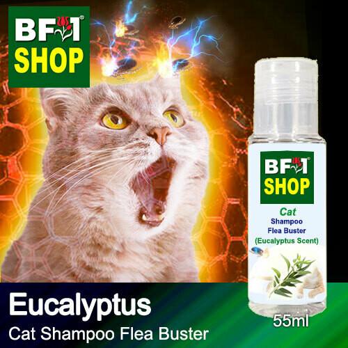 Cat Shampoo Flea Buster (CSO-Cat) - Eucalyptus - 55ml ⭐⭐⭐⭐⭐