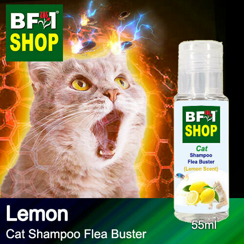 Cat Shampoo Flea Buster (CSO-Cat) - Lemon - 55ml ⭐⭐⭐⭐⭐