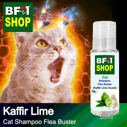 Cat Shampoo Flea Buster (CSO-Cat) - lime - Kaffir Lime - 55ml ⭐⭐⭐⭐⭐