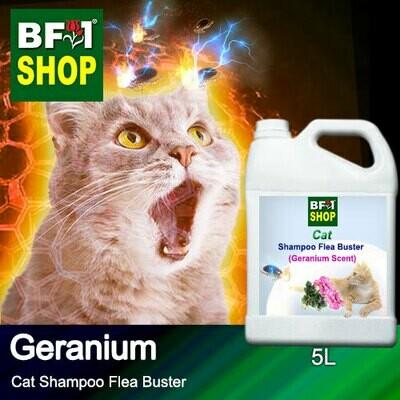 Cat Shampoo Flea Buster (CSO-Cat) - Geranium - 5L ⭐⭐⭐⭐⭐