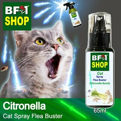 Cat Spray Flea Buster (CSY-Cat) - Citronella - 65ml ⭐⭐⭐⭐⭐