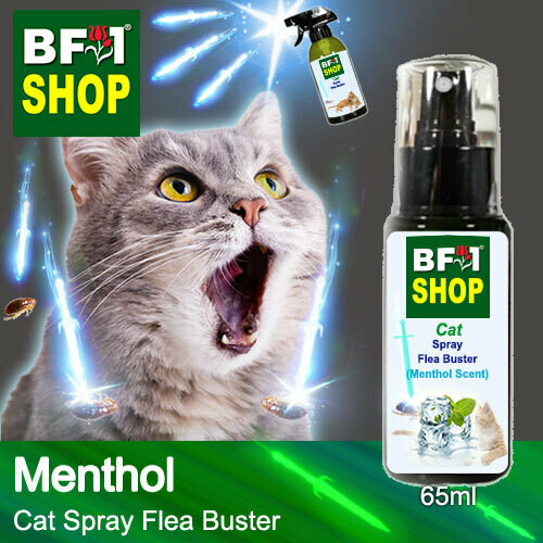 Cat Spray Flea Buster (CSY-Cat) - Menthol - 65ml ⭐⭐⭐⭐⭐