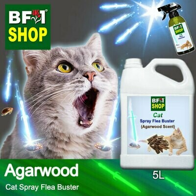 Cat Spray Flea Buster (CSY-Cat) - Agarwood - 5L ⭐⭐⭐⭐⭐