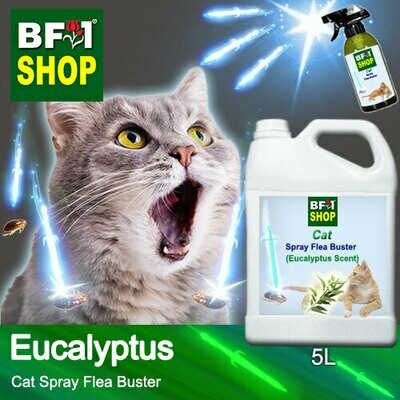 Cat Spray Flea Buster (CSY-Cat) - Eucalyptus - 5L ⭐⭐⭐⭐⭐