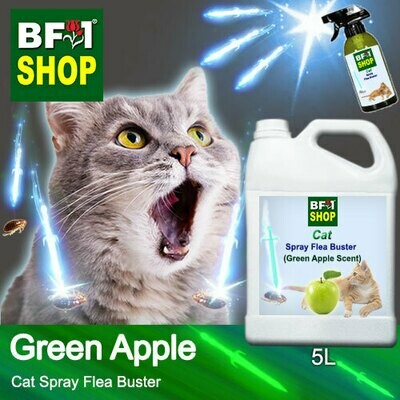 Cat Spray Flea Buster (CSY-Cat) - Apple - Green Apple - 5L ⭐⭐⭐⭐⭐