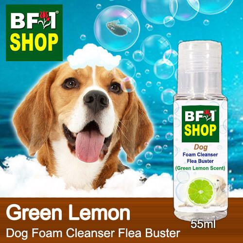 Dog Foam Cleanser Flea Buster (DFC-Dog) - Lemon - Green Lemon - 55ml ⭐⭐⭐⭐⭐