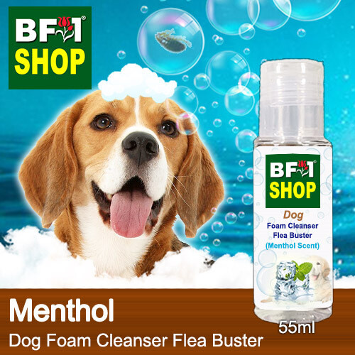 Dog Foam Cleanser Flea Buster (DFC-Dog) - Menthol - 55ml ⭐⭐⭐⭐⭐