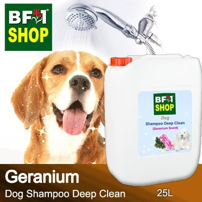 Dog Shampoo Deep Clean (DSDC-Dog) - Geranium - 25L ⭐⭐⭐⭐⭐