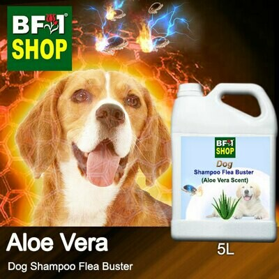 Dog Shampoo Flea Buster (DSO-Dog) - Aloe Vera - 5L ⭐⭐⭐⭐⭐