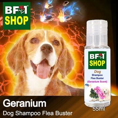 Dog Shampoo Flea Buster (DSO-Dog) - Geranium - 55ml ⭐⭐⭐⭐⭐