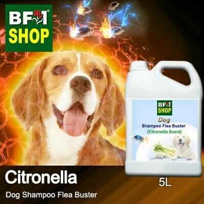 Dog Shampoo Flea Buster (DSO-Dog) - Citronella - 5L ⭐⭐⭐⭐⭐