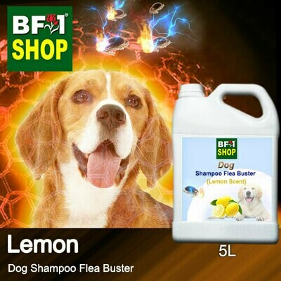 Dog Shampoo Flea Buster (DSO-Dog) - Lemon - 5L ⭐⭐⭐⭐⭐