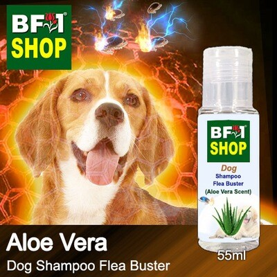 Dog Shampoo Flea Buster (DSO-Dog) - Aloe Vera - 55ml ⭐⭐⭐⭐⭐