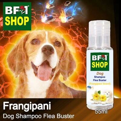 Dog Shampoo Flea Buster (DSO-Dog) - Frangipani - 55ml ⭐⭐⭐⭐⭐