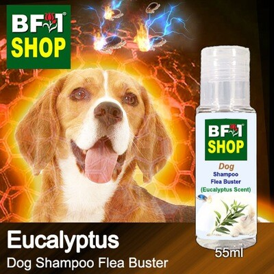 Dog Shampoo Flea Buster (DSO-Dog) - Eucalyptus - 55ml ⭐⭐⭐⭐⭐