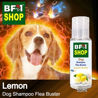 Dog Shampoo Flea Buster (DSO-Dog) - Lemon - 55ml ⭐⭐⭐⭐⭐