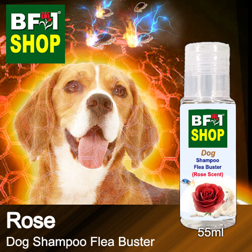 Dog Shampoo Flea Buster (DSO-Dog) - Rose - 55ml ⭐⭐⭐⭐⭐