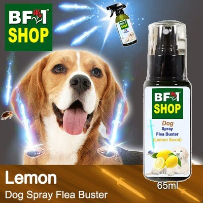 Dog Spray Flea Buster (DSY-Dog) - Lemon - 65ml ⭐⭐⭐⭐⭐