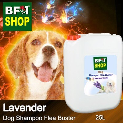 Dog Shampoo Flea Buster (DSO-Dog) - Lavender - 25L ⭐⭐⭐⭐⭐