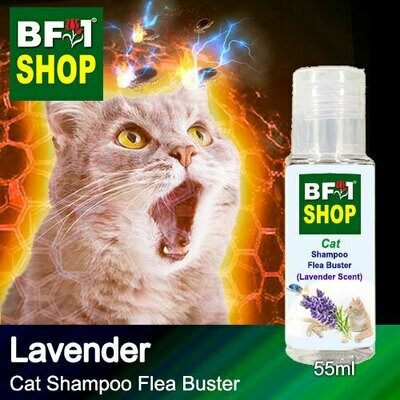 Cat Shampoo Flea Buster (CSO-Cat) - Lavender - 55ml ⭐⭐⭐⭐⭐