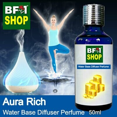 Aromatic Water Base Perfume (WBP) - Aura Rich - 50ml Diffuser Perfume