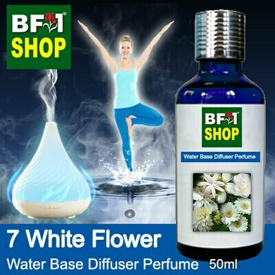 Aromatic Water Base Perfume (WBP) - 7 White Flower - 50ml Diffuser Perfume