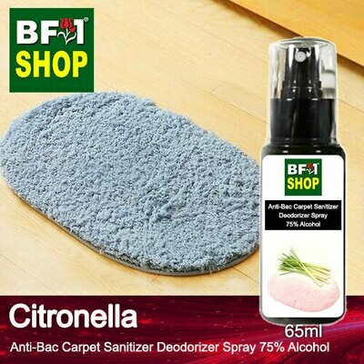 (ABCSD1) Citronella Anti-Bac Carpet Sanitizer Deodorizer Spray - 75% Alcohol - 65ml